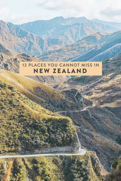 12 beautiful places on New Zealand's North and South Island that you cannot miss! Including Queenstown, Wanaka, Waiheke Island, Mount Cook Village, and more. #newzealand #northisland #southisland #nz #travel