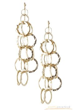 Trisha Textured Chain Link Earrings