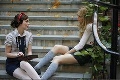 Blair and Serena--Gossip Girl their Constance Billard uniforms! Girl Fashion Style, Gossip Girl Fashion, Girl Style, Preppy Style, Preppy Fashion, Teen Fashion, Spring Fashion, Blair Y Serena, Estilo Gossip Girl