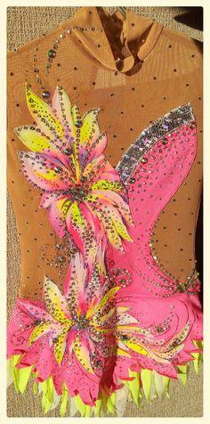 Pink mood leotard for rhythmic gymnastics by alwaysagoodprice