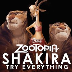 """Get ready to ROCK OUT with international superstar Shakira! She is using her Grammy®-winning voice to bring Gazelle, the biggest pop star in #Zootopia, to life! Watch as Shakira shares a snippet of the new music video """"Try Everything."""""""