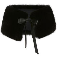 Fox Fur Stole   Moda Operandi (10.680 RON) ❤ liked on Polyvore featuring accessories, scarves, fox fur scarves, fox fur shawl, tie scarves and fox fur stole