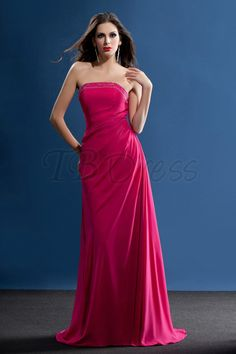 Wonderful Beading A-Line Strapless Floor-Length Taline's Bridesmaid Dress