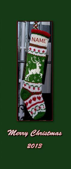 Hand knit Christmas stocking  pattern only by sby4718 on Etsy, $7.99