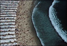 by Bruno Barbey, A crowded beach at Nazaré, Portugal, 1985 Types Of Photography, Candid Photography, Documentary Photography, Aerial Photography, Camera World, French Photographers, Contemporary Photographers, Close Up Portraits, Photo Story