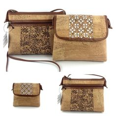 Handmade Cross Body Bag from Genuine Cork Leather, FREE SHIPPING, Women's Vegan Purse, Eco Friendly Handbags, Unique Gift for Ladies