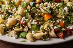 A healthy grilled vegetable pasta salad recipe.