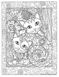 Creative Haven Cats By Marjorie Sarnat