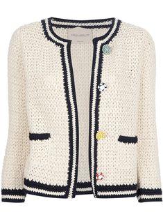 Erika Cavallini Semi Couture Crochet Cardigan - - Farfetch.com