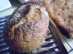 "No-knead Crusty Artisinal Bread #vegan (pg. 226 of ""World Vegan Feast"" by Bryanna Clark Grogan.  Also can follow master recipe from ""Artisan Bread in 5 Minutes A Day."""