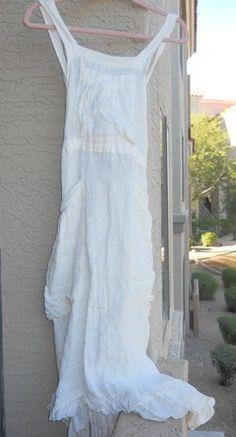 Magnolia Pearl Linen Apron Dress (RARE) | eBay