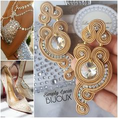 Soutache Pendant, Soutache Necklace, Macrame Earrings, Boho Jewelry, Jewelery, Handmade Jewelry, Jewelry Design, Soutache Tutorial, Bib Necklaces
