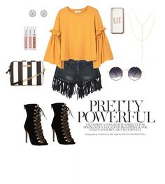 """Pretty Powerful"" by thegoldcobblestone ❤ liked on Polyvore featuring Sans Souci, MANGO, Spitfire, Missguided, Accessorize, South Moon Under, fashionset and bellsleeve"