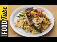 Pan-Fried Salmon with Tomato Couscous | Jamie Oliver - YouTube