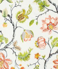 Robert Allen Bloom City Dew Fabric - $88.35 | onlinefabricstore.net