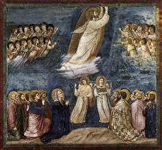 Ascension, Giotto, 1303-1306 Fresque, 200 x 185, église de l'Aréna à Padoue