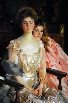 Mrs. Fiske Warren (Gretchen Osgood) and Her Daughter Rachel, John Singer Sargent, 1903