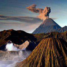sunrise ash eruption of Mt Semeru in Bromo Tengger National Park, Java, Indonesia. Photo by Denis Walton. Amazing Photography, Landscape Photography, Nature Photography, Beautiful World, Beautiful Places, Pixel, National Geographic Photos, Beautiful Landscapes, Volcanoes