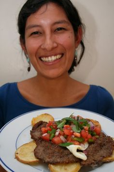 Silpancho Bolivian food recipe. This stuff is seriously delicious!