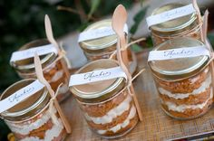 pumpkin pie favors or holiday gifts! Thanksgiving Favors, Happy Thanksgiving, Happy Fall, Mini Pumpkin Pies, A Pumpkin, Pumpkin Patch Party, Cake In A Jar, Food Gifts, Yummy Cakes