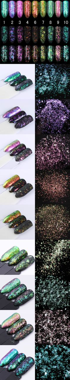 $39.99 9 Colors BORN PRETTY Transparent Chameleon Sequins 0.5g 1g Paillette BornPrettyStore.com | #kimskie