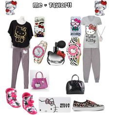 b37e4ef2b Hello Kitty Outfits - Polyvore Ropa De Hello Kitty, Sanrio, Bff, Trajes  Bonitos