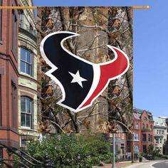 "Houston Texans 27"" x 37"" Realtree Camo Vertical Banner Flag - $14.99"