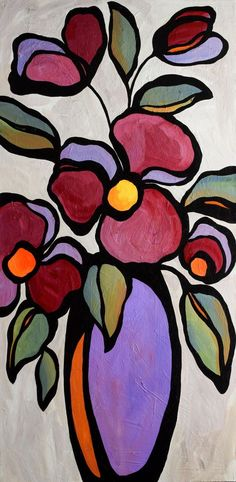 Flowers by Mike Daneshi Abstract Flower Art, Acrylic Painting Flowers, Painting Abstract, Painting Art, Flowers To Paint, Draw Flowers, Buy Flowers, Abstract Portrait, Floral Flowers