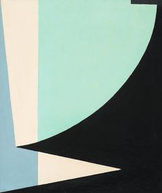ERIC H OLSON, Composition. Geometry. Turquoise, black, white and blue.
