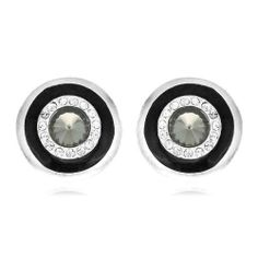 Arinna Swarovski Topaz Crystal Enamel Fashion Earrings Arinna. $15.98