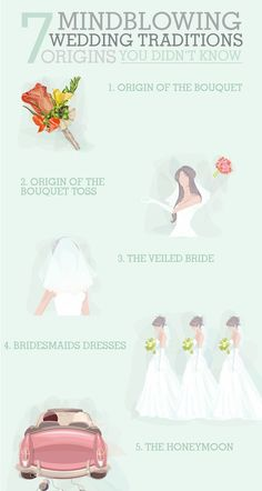 Now I know how to ward off evil spirits on my wedding day! :) What a cool infographic from @WeddingMix on the origins of wedding traditions.