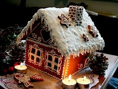 I made one every year... this year, i give some to my friends and my family :-) Gingerbread house with Roayl Icing