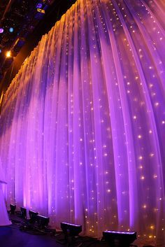 sheer fabric with twinkle lights