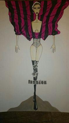 F.Shahkoopah's fashion students-Fashion Illustration Class  by sara poursaleh