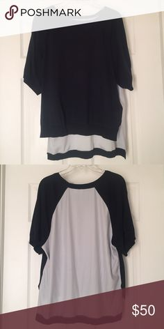 Anthropologie Lounge T-Shirt Navy blue. Comfy lounge oversized t-shirt from Anthropologie. 55% cotton 5% silk 40% other. Only worn once! Anthropologie Tops Tees - Short Sleeve