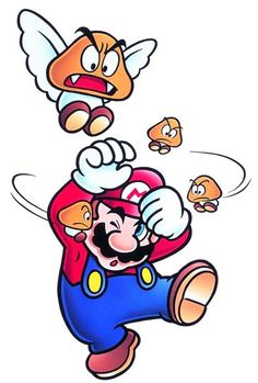 Mario with Paragoomba and Micro-Goombas - Super Mario Bros 3 Super Mario Bros, Super Mario Kunst, Super Mario Nintendo, Super Mario World, Super Mario Brothers, Video Game Art, Video Games, Mario Kart, Character Design