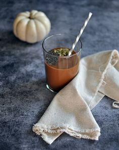 Pumpkin-Peanut Butter and Chocolate Power Smoothie | Turntable Kitchen...replace honey with a date to make it Daniel fast friendly