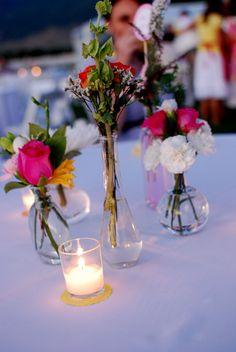 bud vase centerpieces and votives at dusk. Wedding Types, Wedding Bride, Wedding Flowers, Wedding Day, Vase Centerpieces, Bud Vases, Wedding Centerpieces, Wedding Planning Inspiration, Wedding Locations