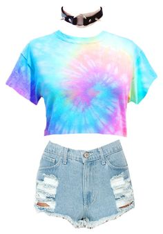 """Pastel Tie Dye Crop Tops"" by foxcultvintage on Polyvore featuring vintage, croptop, pastel and tiedye"