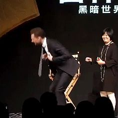 Oh (gif) lol xD How much you wanna bet he did that because they cheered when he took it off?