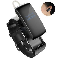 Bluetooth Headset Earphone Smartwatch, AFYOU Waterproof Touch Screen Smart Bracelet Fitness Tracker Pedometer Anti-theft…