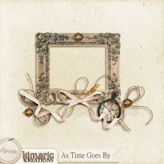 kimeric kreations: A beautiful frame cluster made with As Time Goes By tonight :)