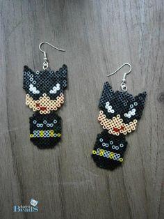 Catwoman earrings hama mini beads by KarinMind on deviantART