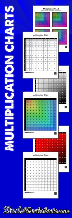 Dozens of printable multiplication charts in black and white, and in color! Everything you need to learn the multiplication table fast! Fun Math Games, Math Activities, Division Activities, Free Printable Math Worksheets, Homeschool Worksheets, Homeschooling, Printables, Multiplication Chart, Multiplication Strategies