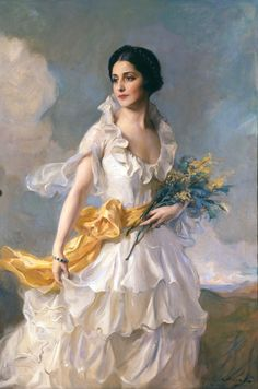 """""""Philip Alexius de László (UK was an Hungarian born British Painter known particularly for his portraits of royal and aristocratic personages. I wish all a nice weekend!💫 I'll be back Sunday night. Victorian Paintings, Victorian Art, Classic Paintings, Beautiful Paintings, L'art Du Portrait, Mode Poster, Art Et Illustration, Illustrations, Classical Art"""