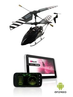 The Beewi BBZ301 - Bluetooth Helicopter  - High drivability and stability: 3 Channels, dual rotorstructure and gyroscope - Fun, user friendly and intuitive motion and touch screen control - Free BeeWi Heli Pad app available on Android Market - Beginner and expert mode  - Your smartphone is the remote control, no adaptor needed!