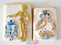 star wars cookies, super hero cookies