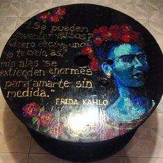 Frida Kahlo DIY Table by Jessica Cortés #art #table