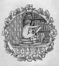 [Bookplate of Martha Wyckoff Burt] by Pratt Institute Library, via Flickr