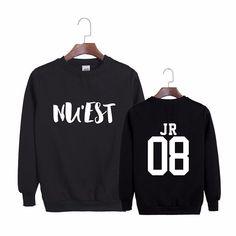 NU'EST JR 08 Leader Canvas K-POP Hip Hop Black White Cool Sweatshirt #NUEST #JR #08 #Leader #Canvas #KPOP #HipHop #Black #White #Cool #Sweatshirt #KIDOLSTUFF